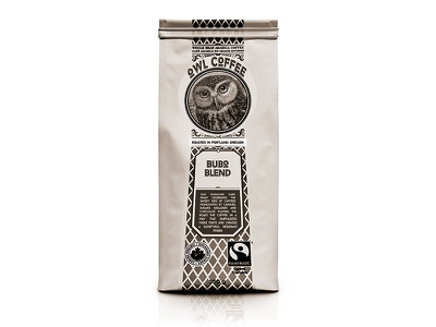 Owl Coffee Co. design graphicdesign art owl coffee label logo typography