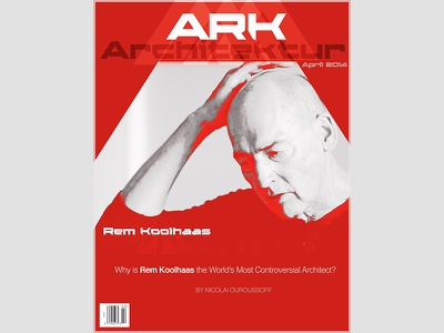 ARK Architektur cover design, Rem Koolhaas architecture swiss design graphicdesign cover remkoolhaas pritzkerprize red