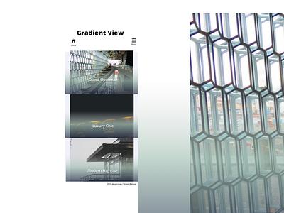 Gradient View responsive design webdesign web ui
