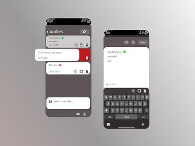todoodle app V0.1 sketchapp ui design mobile