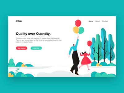 Web Landing Page Illustration.