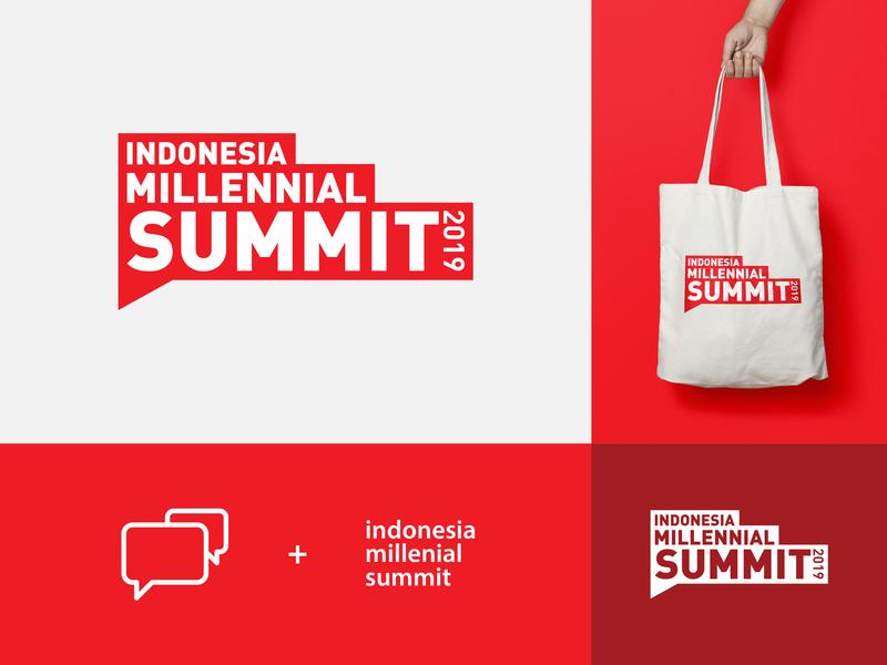 Indonesia Millennial Summit 2019 event design indonesia identity type simple summit conference branding logotype logo