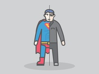 Singleweight Superman Clarkent