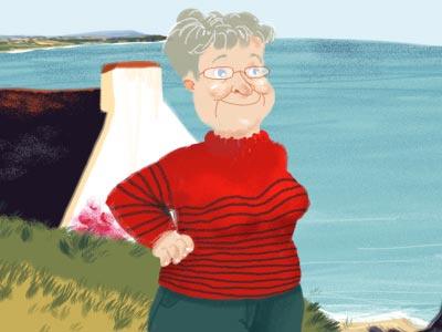 Grand-mère bretonne grand-mère illustration dessin