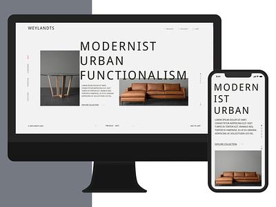 Daily UI - #003 - Landing Page typography minimal web ecommence ux ui
