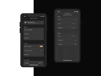 Daily UI - #007 - Settings Page app dailyui minimal ux ui