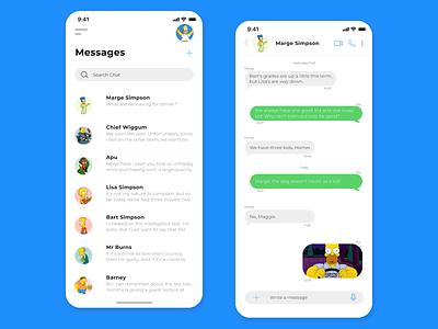Daily UI #013 - Direct Messaging app dailyuichallenge daily ui dailyui minimal ux ui