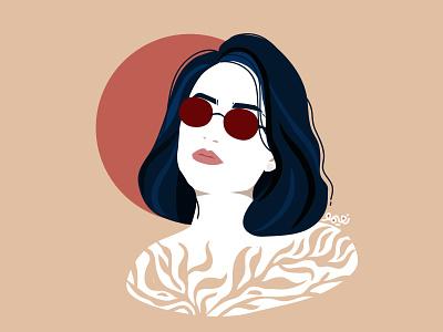 My portrait girl illustration portrait portrait illustration vector branding adobe character iran design tehran digitalpaint illustration