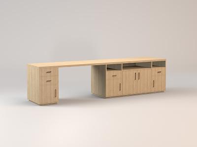Ben's Desk media console desk wood furniture midcentury model c4d 3d