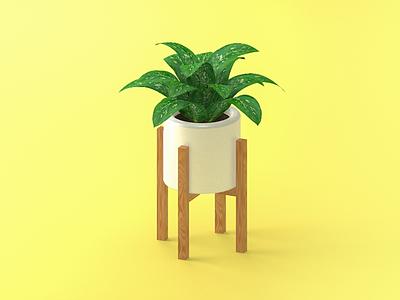 Plant Stand c4d model 3d