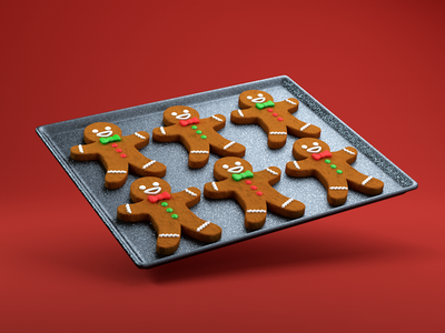 Gingerbread Men baking gingerbread cookies food gingerbread man 3d