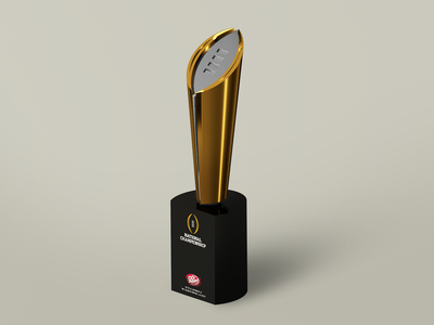 College Football Playoff Trophy by Dr. Pepper award trophy dr pepper cfp college football football model c4d 3d