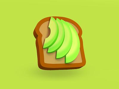 Avocado Toast brunch breakfast avocado toast bread model food c4d 3d