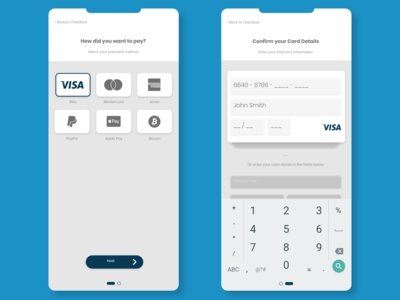 eCommerce Credit Card Checkout UI