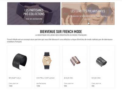 French Mode e-commerce website
