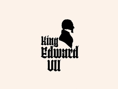 King Edward VII - Logo typography type logotype visual  identity symbol icon symbol minimal id icon mark welovenoise logo design branding identity brand