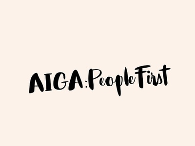 AIGA: PeopleFirst - Logo typography type logotype visual  identity symbol icon symbol minimal id icon mark welovenoise logo design branding identity brand