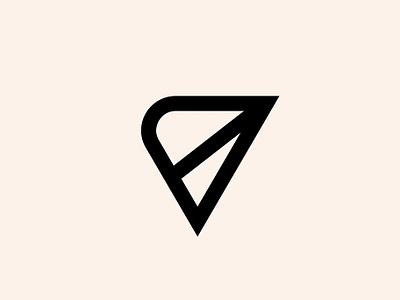 Vantage Point - Logo typography type logotype visual  identity symbol icon symbol minimal id icon mark logo design branding identity brand