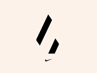 Nike: Four Horsemen - Logo typography type logotype visual  identity symbol icon symbol minimal id icon mark logo design branding identity brand