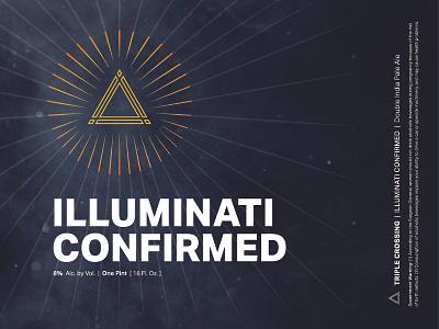 Illuminati Confirmed DIPA ⟁ Triple Crossing illuminati craft beer beer label brewery packaging can triple crossing beer