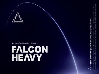 Falcon Heavy ⟁ Triple Crossing craft beer beer label brewery packaging can triple crossing beer