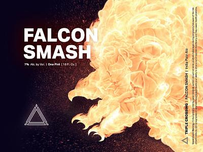 Falcon Smash ⟁ Triple Crossing craft beer beer label brewery packaging can triple crossing beer