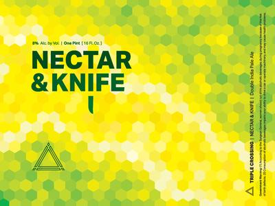Nectar & Knife DIPA ⟁ Triple Crossing craft beer beer label brewery packaging can triple crossing beer