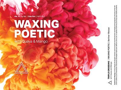 Waxing Poetic Berliner Weisse | Guava & Mango ⟁ Triple Crossing craft beer beer label brewery packaging can triple crossing beer