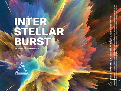 Interstellar Burst ⟁ Triple Crossing craft beer beer label brewery packaging can triple crossing beer