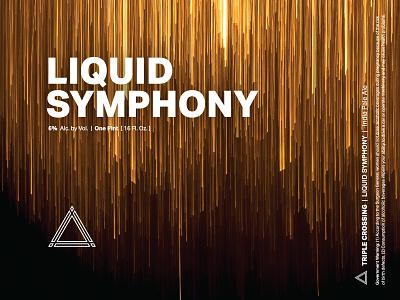 Liquid Symphony ⟁ Triple Crossing craft beer beer label brewery packaging can triple crossing beer