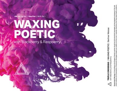 Waxing Poetic | Blackberry & Raspberry ⟁ Triple Crossing triple crossing packaging brewery craft beer can beer label beer