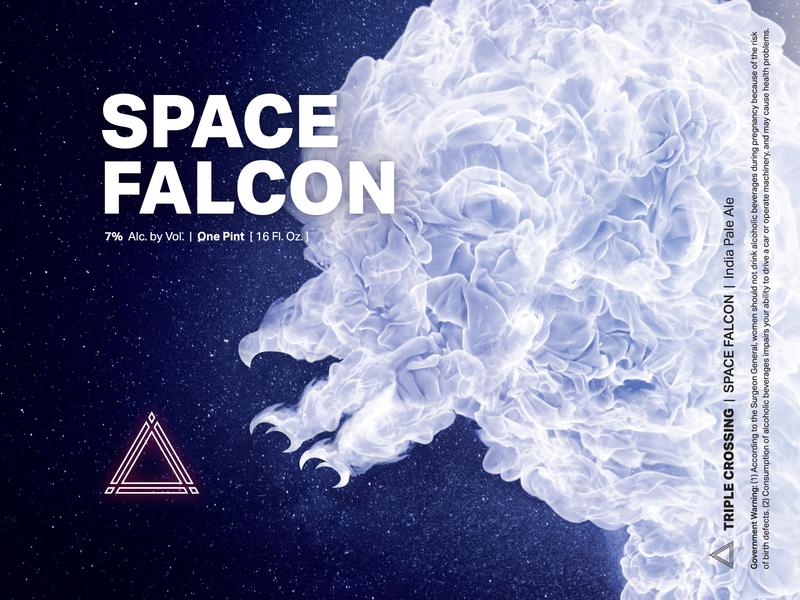 Space Falcon IPA ⟁ Triple Crossing triple crossing packaging design brewery can beer label craft beer beer