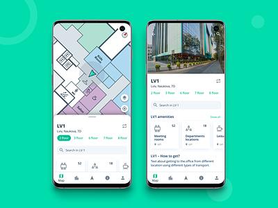 Solution for Office Navigation ui floor floorplan maps map location app navigation office navigation office space office android app mobile app