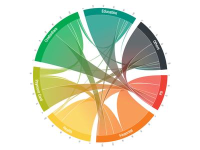 Chord Diagram records rainbow chart data visualization data sankey chord