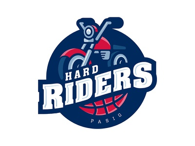 Hard Riders logo sports jersey motorcycle bikers riders