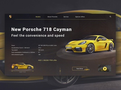 Concept with New Porsche 718 Cayman