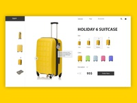 Suitcase shop product card