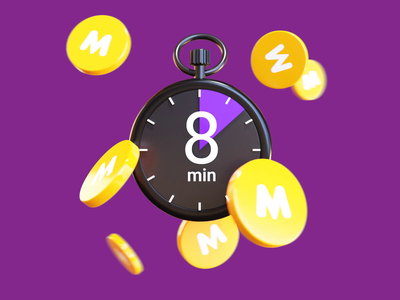Free cancellation coins timer illustration citymobil city blender3d blender b3d 3d animation