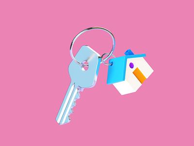 Apartment per a taxi ride illustration cinema4d home key citymobil b3d blender