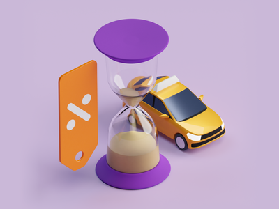 Discount for the late hourglass taxi citymobil blender b3d