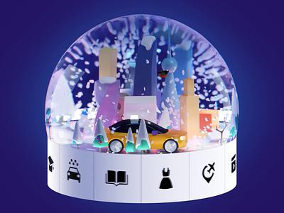 Gifts per trips gifts cinema4d c4d illustration blender3d blender 3d animation taxi city citymobil