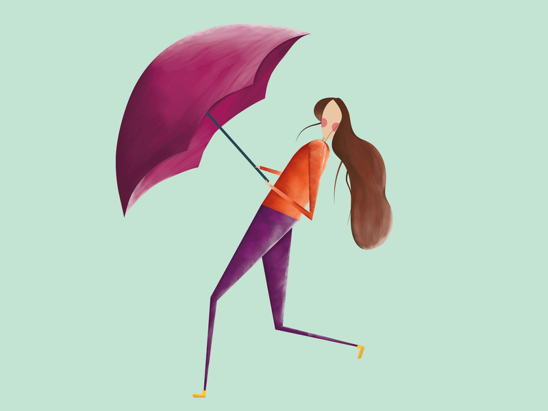 Rainy girl illustration graphic design vector artwork illustration design vector design vector art vector illustration adobe illustrator logo vector design illustration
