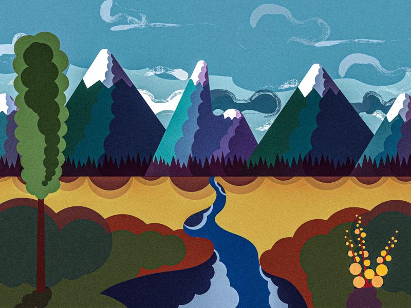 Mount landscape illustration vector illustration vector artwork vector art illustration design graphic design adobe illustrator