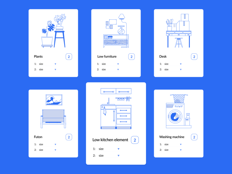 DiDay. Cards. firniture icon set icon illustrator vector clean illustration embacy design cards