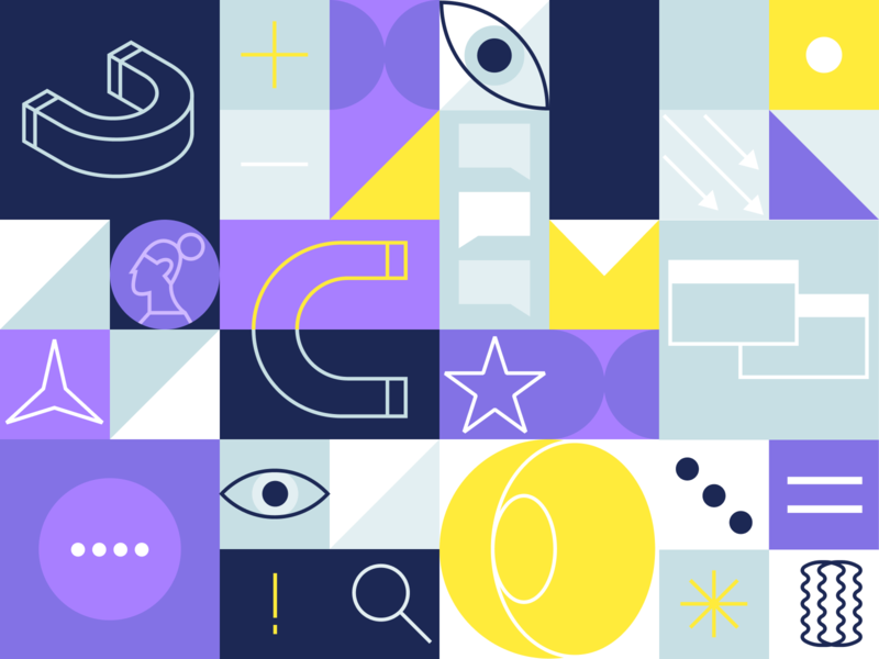 Leadly. Illustrations. icons colorful lead magnet figma branding vector illustration embacy design clean