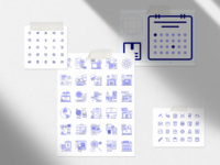 Free set of 222 icons for digital products