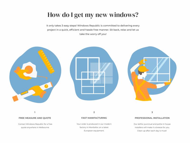 Windows Republic. Main page clean web ui vector embacy child man character window illustraion