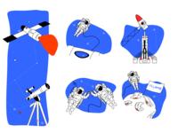 Illustrations. Website Design. Skyeng