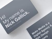 Maksim Media Cards