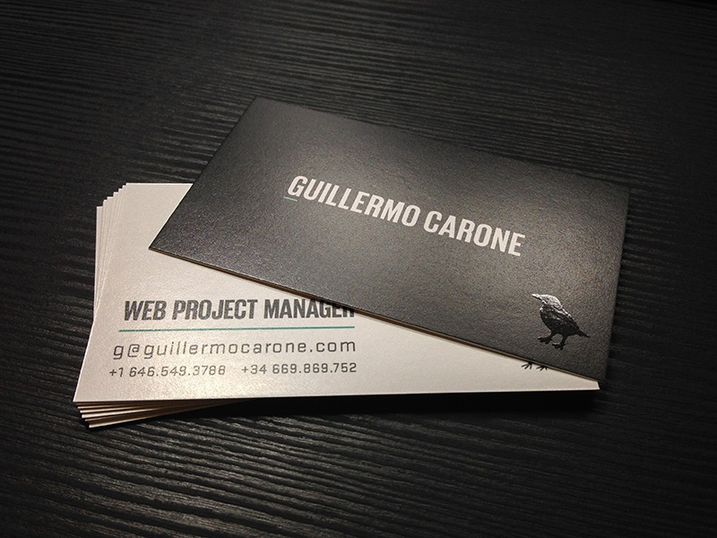 guillermo carone web project manager dribbble - Business Card Manager